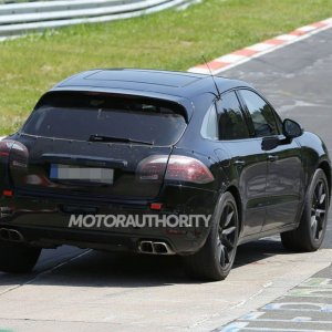 2015 Porsche Macan Turbo Spy Shot Rear