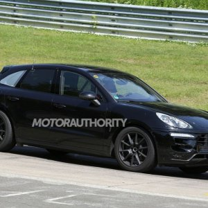 2015 Porsche Macan Turbo Spy Shot Side View 2