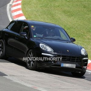 2015 Porsche Macan Turbo Spy Shot Front Right