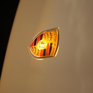 Sunset on badge
