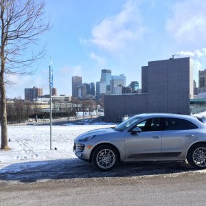 Macan S Cold February day at Walker Art Center, Minneapolis