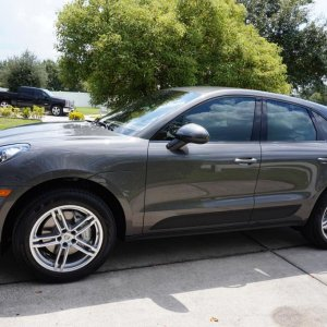 This is my 2016 Porsche Macan on its first day at home! Notice I had the dealer tint the Driver's and Passenger Windows = I think it looks awesome!